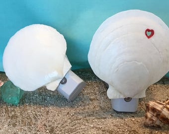 Seashell Nightlight/Scallop Shell/Love Nightlight/Night Lighting/Auto On and Off LED