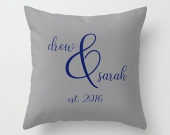 Mr and Mrs Pillow Covers 20x20, Personalized Pillow Cover 18x18, Home Decor Gifts For Couples, Master Bedroom Decor, Newlywed Gift For Her