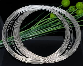 100 Loops Silver Tone Necklace Size Memory Beading Wire 140mm (B235c)