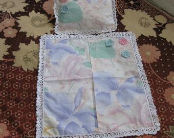 Crochet Blanket And Pillow For Dolls. New, handmade, for the doll covers the edge of crochet