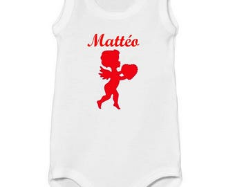Tank top personalized with name Angel baby Bodysuit