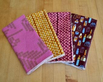Set of 4 cloth handmade napkins - multicolored