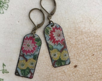 "Tin Jewelry Earrings ""Arched Windows"" Tin for the Ten Year Tenth Wedding Anniversary"