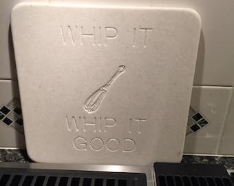Whip It, Whip It Good corian cutting board