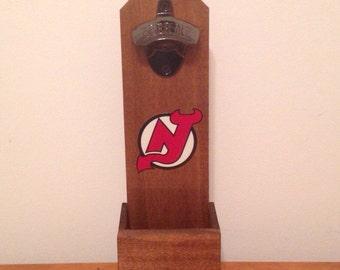Wall Mounted Bottle Opener - New Jersey Devils