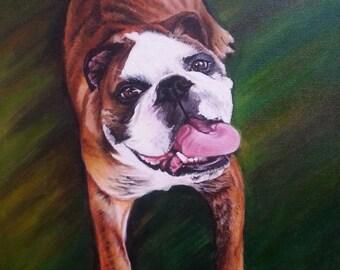 Custom Pet portrait full body, Realistic pet portrait