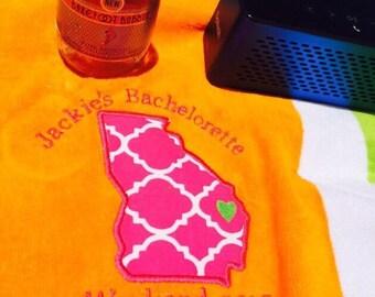 Custom beach towels Wedding, Bachlorette, birthday, party