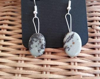 Chohua Jasper Natural Stone Earrings (Nickel Free Hooks)