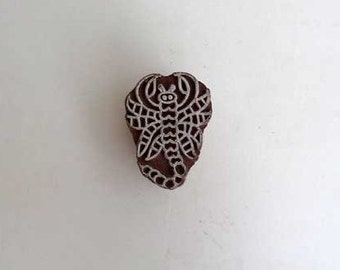 Scorpio Indian printing block, wood stamp ,hand carved stamp ,India