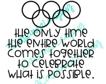 Olympics SVG, Olympics Cutfile, Olympic Rings