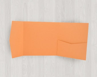 10 Square Pocket Enclosures - Oranges - DIY Invitations - Invitation Enclosures for Weddings and Other Events