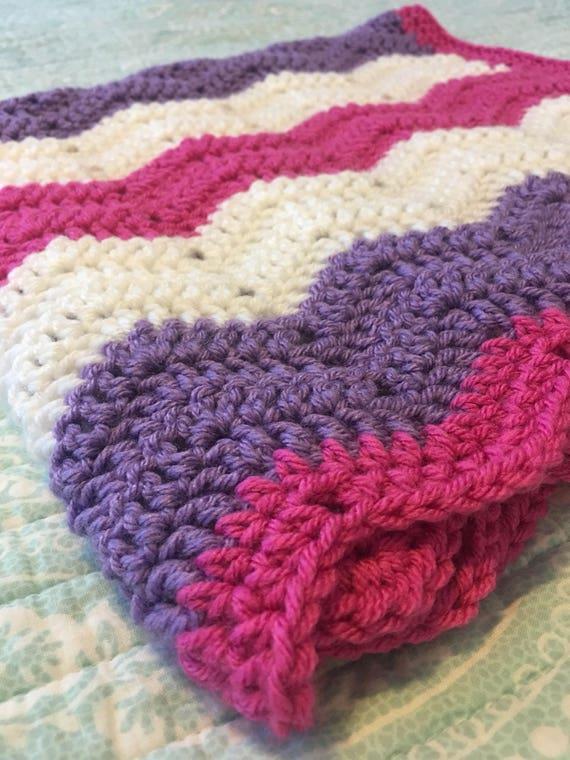 Crochet bebé manta de Chevron