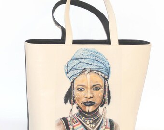 African Girl Leather Bag