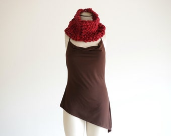 Infinity Scarf Winter Accessories, Red Circle Scarf Chunky Scarf Winter Scarf Womens Gift Build your own Custom Scarf