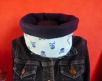 neck scarf-snood child skull and fleece