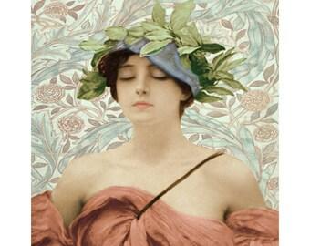 Grecian Goddess, digital print, photomontage, digital vintage art, art deco print, 1920 s art, vintage print, home decor, fine art, wall art