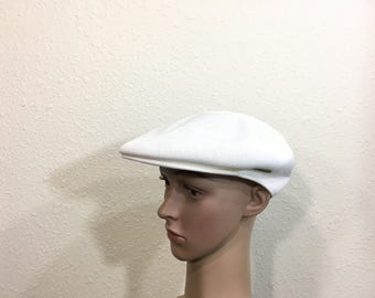 vintage kangol newsboy cap summer hat made in england mesh cap size 7 1/4