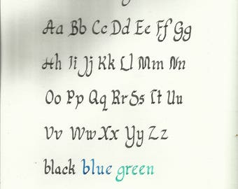 Custom Calligraphy Round Serif Font Color Options