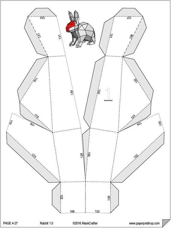 Paper Craft Template. ChimpanzeeChimp D Papercraft Template Diy Low ...