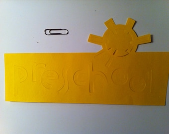 Yellow Preschool Die Cut