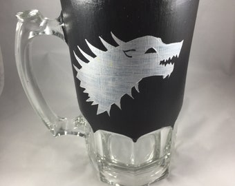 House Stark- Game of Thrones Inspired Beer/Drink Pitcher Mug