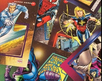 Spring Just Reduced Superhero Trading Cards.