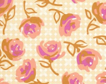 SALE - Weekends - Lily Rose - By Erin McMorris - 1 Yard - Butter - 5.75