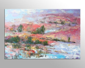 Landscape Painting, Large Art Painting, Large Art, Canvas Art, Contemporary Art, Abstract Art, Large Painting, Wall Art, Abstract Painting