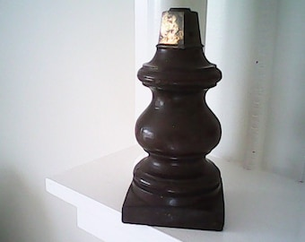 1930s WOOD BRASS POST Architectural Salvage