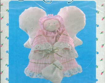 "1983 Tooth Fairy DIY NIP Doll Kit by Designer Barbara Lahti Strauss 5"" x 7"" - Leisure Arts Sock-A-Bye Kit 708"