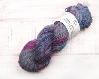 Cosmic Forces - Variegated Yarn - Hand dyed yarn - Gifts for knitters - Sock yarn - Indie dyed yarn - Norwegian wool - Crochet yarn