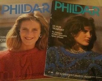Set of 2 catalogs phildar knitting stitches woman