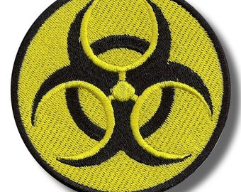 Biohazard - embroidered patch 8x8 cm