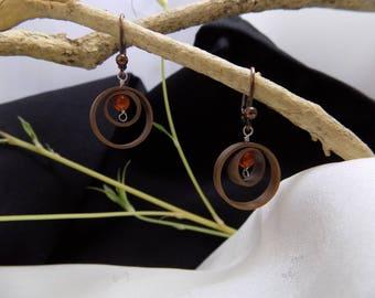 Blackened copper earrings