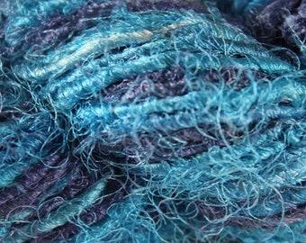 Recycled Sari Silk Yarn - Ocean