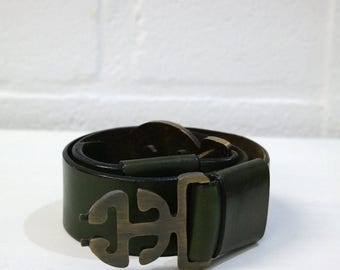 Belt VINTAGE distressed leather - PULLMAN Made in France