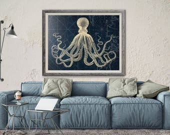 Popular Items For Octopus Wall Art