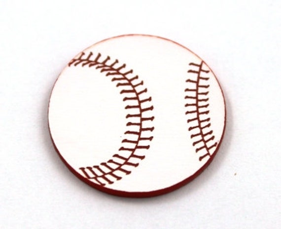 Laser Cut Supplies-1 Piece Base Ball Charms-Acrylic and Wood Laser Cut-Jewelry Supplies-Little Laser Lab Wood and Acrylic Products
