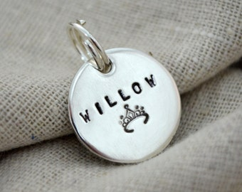 Sterling Silver Cat Tag - Pet ID - Small dog - Personalize