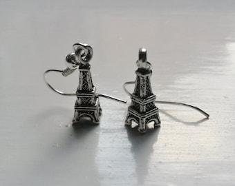 Eiffel Tower Earrings – Antique Silver