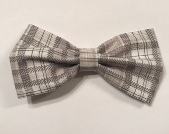 Gray plaid bow