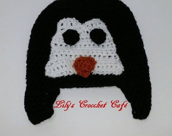 Hand Crochet | Penguin Beanie | Ready to Ship
