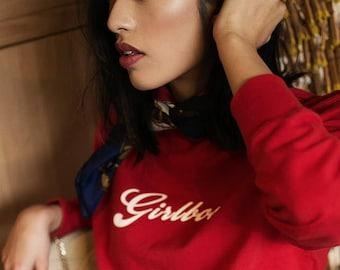 Red Sweatshirt GIRLBOSS