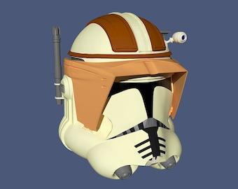 Commander Cody Clone Trooper Helmet 3D Model