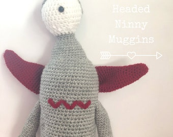 One Eyed Cotton Headed Ninny Muggins crochet Monster, crochet doll, amigurumi doll,  toy monster, amigurumi plush toy, handmade toy