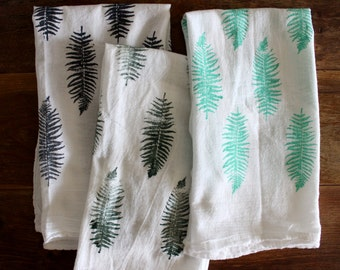 Tea Towel | Fern Tea Towel | Dish Towel | Flour Sack Towel