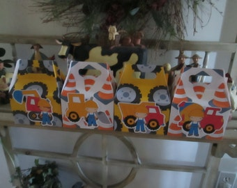Construction Worker Large Gable Box Set of 12 with Free Shipping