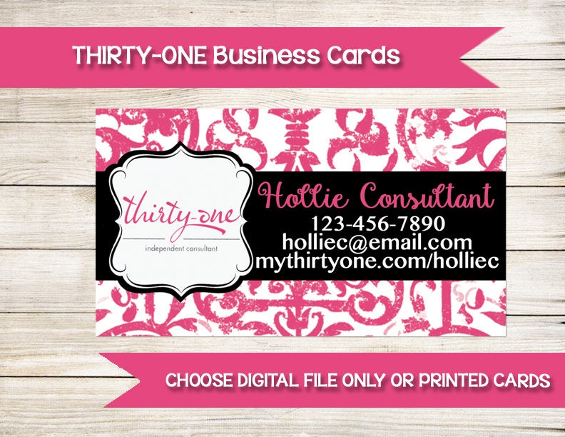 THIRTY-ONE Business Cards Custom Printed Direct Sales
