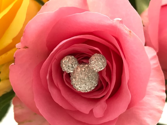 Disney Inspired Flower Pins-Boutonnieres-Clear Mickey Mouse Centerpieces-Wedding Corsage