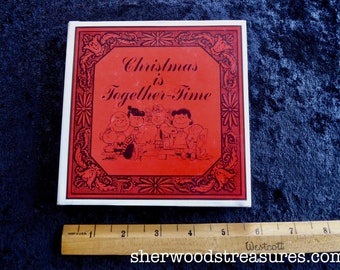 PEANUTS CHRISTMAS Is Together Time1st ed Charlie Brown Hardcover Book Exc. 1966 Charles Schultz